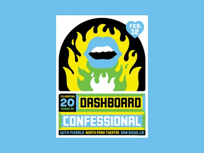 Dashboard Confessional love music indie gigposter