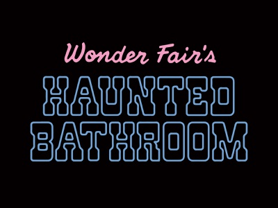 The Haunted Bathroom branding souvenir type logo