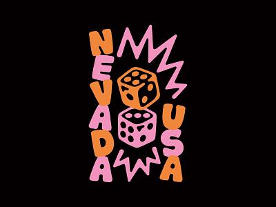 Nevada, USA illustration lettering vegas nevada