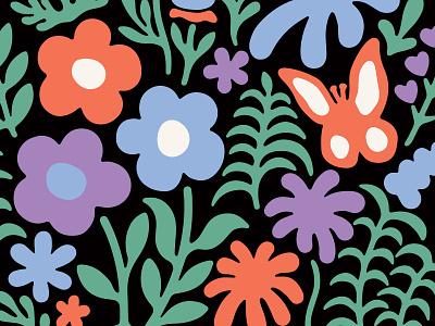 Garden Club shapes illustration nature flowers garden