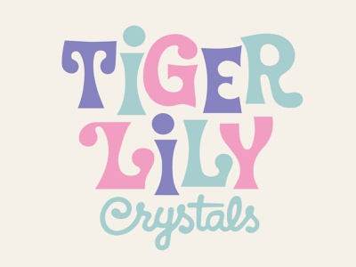 Tiger Lily Crystals colors vintage lettering type