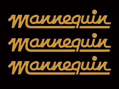 Mannequin Lettering shapes type lettering