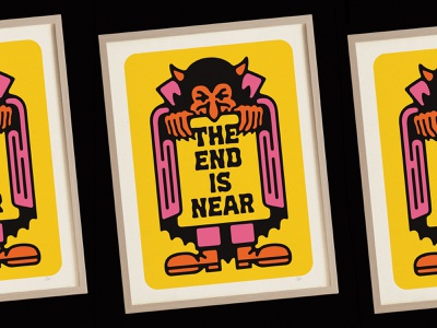 The End is Near print lettering typography type