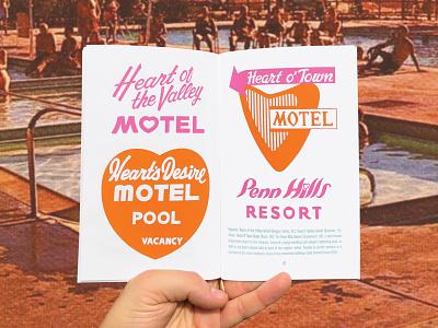 Tourist Type: Dead Motels Preview logo inspiration travel motel retro vintage type