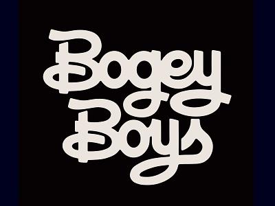 Bogey Boys Type golf design lettering type