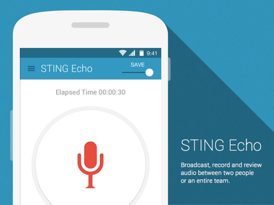 Sting Echo for Android android mobile ui material design record