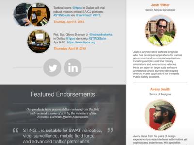 New Company Website: Home mobile desktop responsive intrepid networks