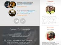 New Company Website: Home