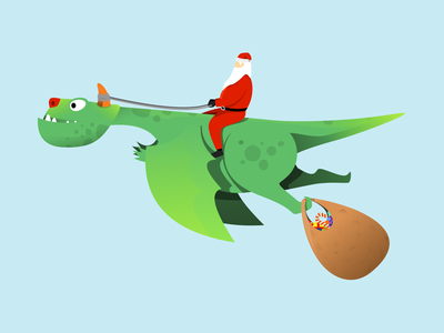 [COMMISSIONED] Series of Dragon Illustration for a Book flying gift santaclaus vector illustration illustration design green santa claus digital illustration illustration art creative design creative creature dragon vector art designmnl illustration artwork creatives design