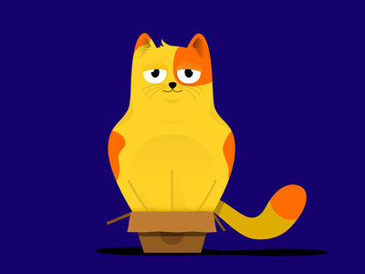 If I can IN, I can FIT pets pet animal vectors vector illustration yellow blue boxes box cat digital illustration illustration design cats vector creative designmnl artwork illustration design creatives