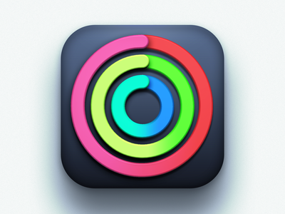 Activity icon Big Sur Edition (unofficial) activity application icon 3d icon 3d big sur icon apple apple icon concept ios icon ios big sur app icon iconography icon design icons icon creative creatives design