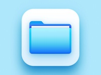 Apple Files Icon Big Sur Edition illustrator 3d ios app icon big sur apple files icon designer designers app icon designers app icon design app icon icon design iconography icon creative ui design creatives