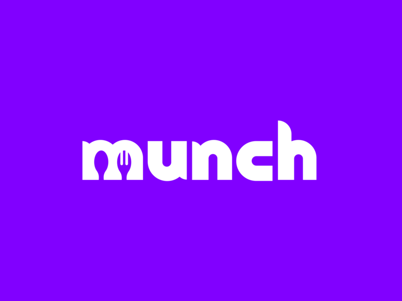 🔥munch (official logo design) identity branding wordmark brand identity identity design startup branding brand design startup logo logo design logotype logistics delivery restaurant food purple startup identity branding logo creatives design