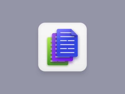 Document Management (Big Sur Icon Style) big sur app icon file green purple blue document management documents symbol icons design icon design iconography icon set icons icon vector illustration designmnl design creatives