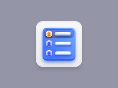 Contact Management (Big Sur icon style) big sur icon big sur icon designer creative sketchapp vector icons contact management contact blue vector icon icons design icons pack icon design iconography icon set icons icon vector creatives design