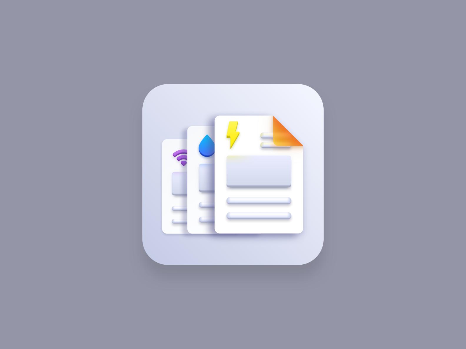 Bills (Big Sur style icon)