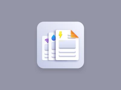 Bills (Big Sur style icon) creatives design sketchapp vector artwork vector design vector icon designer icon designs icon design iconography icon set icons icon big sur icon big sur document payment bills payment bills