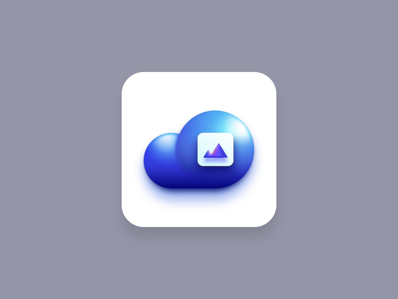 Media Cloud icon (Big Sur style)