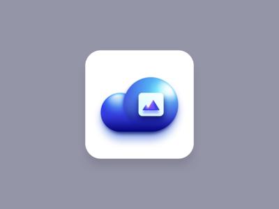 Media Cloud icon (Big Sur style) blue icons media icon cloud icon apple big sur icon big sur media cloud icon designer icon designs sketchapp vector illustration icon design iconography icon set icon vector creatives design