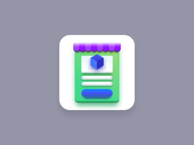 Marketplace icon (Big Sur style) green store ecommerce marketplace big sur big sur icon icon designer icon designs app icon designers app icons app icon icon artwork icon pack icon design iconography icons icon vector creatives design