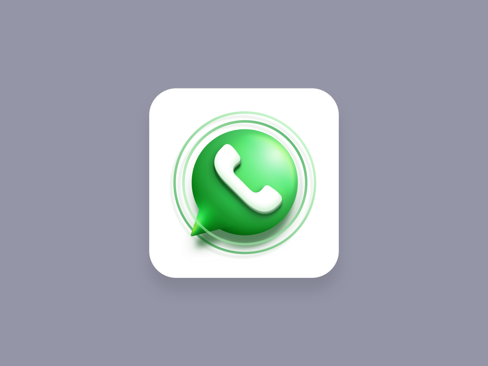 Whatsapp marketing icon (Big Sur style)