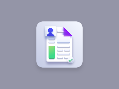 Resume icon (Big Sur style) app icon designers icon artwork icon designer icon design iconography icons icon document curriculum vitae resume cv resume vector icons vector icon app icon design app icon big sur icon big sur vector creatives design