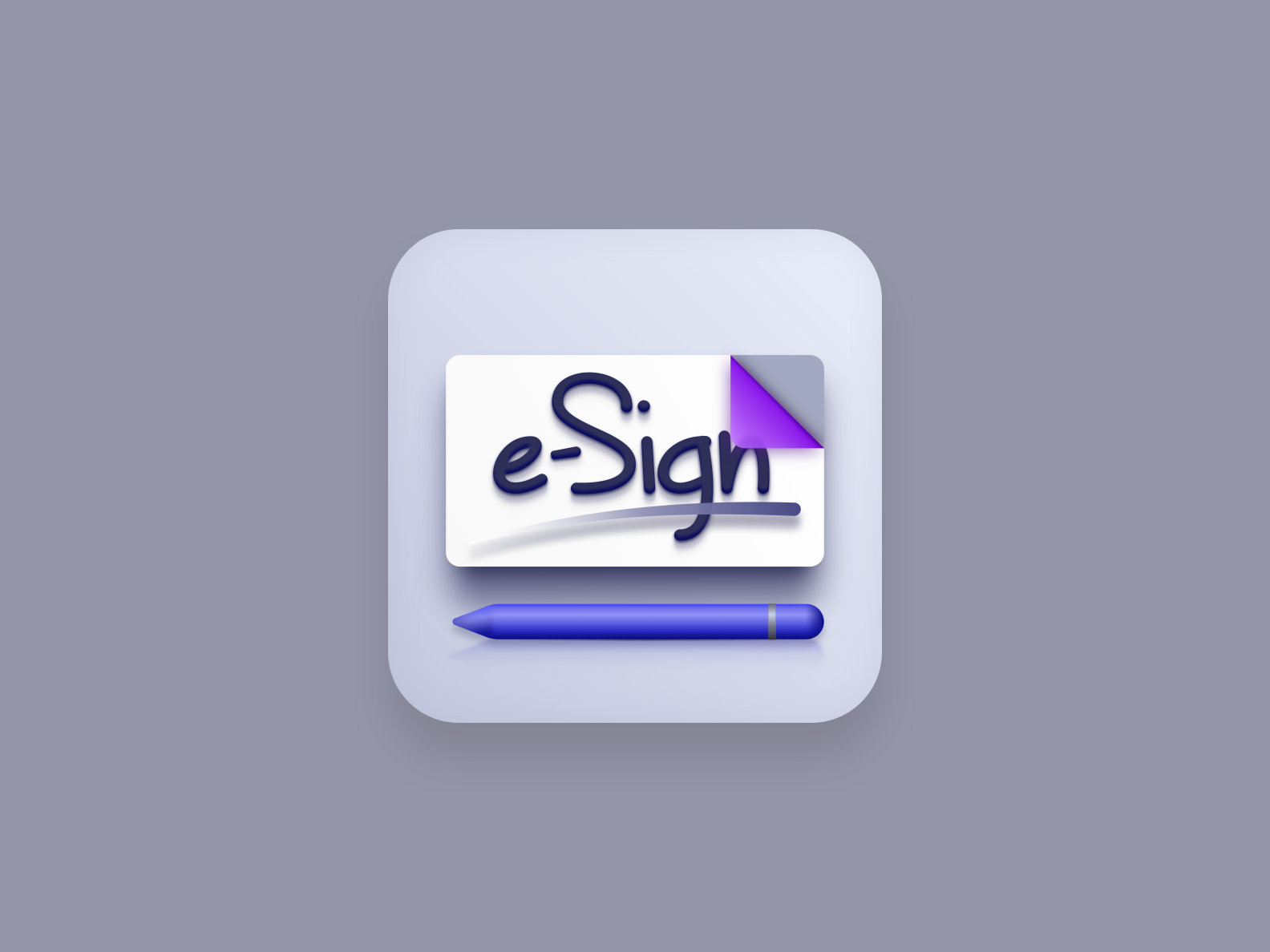 e-Sign icon (Big Sur style)