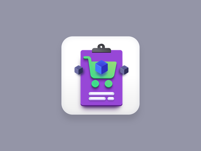 Purchase Order icon (Big Sur style) app icon design icon designer sketchapp purple logo vector icons icon design iconography icons icon cart order purchase big sur icon big sur vector icon app icons app icon vector creatives design
