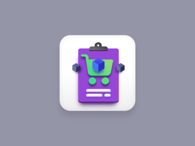 Purchase Order icon (Big Sur style) app icon design icon designer sketchapp purple logo vector icons icon design iconography icons icon cart order purchase big sur icon big sur vector icon app icons app icon vector creatives design