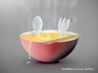 Soup bath illustration