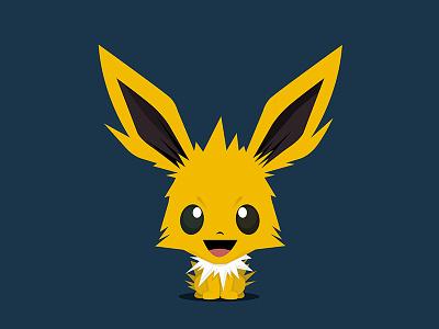 Jolteon (Pokémon) - Bobblehead Style character pokemon pokemongo illustration creative artwork identity branding jolteon anime character design photoshop