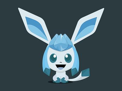 Glaceon (Pokémon) - Bobblehead Style photoshop character design anime glaceon branding identity artwork creative illustration pokemongo pokemon character