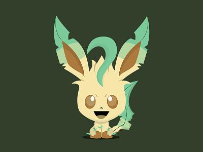 Leafeon (Pokémon) - Bobblehead Style character pokemon pokemongo illustration creative artwork identity branding leafeon anime character design photoshop