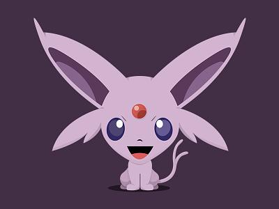Espeon (Pokémon) - Bobblehead Style photoshop character design anime espeon branding identity artwork creative illustration pokemongo pokemon character