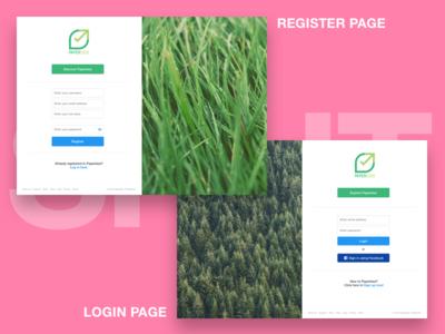 Anti-Pattern | Login/Register split layout