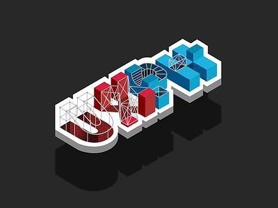 UXPH isometric/wireframe creative 3d isometric artwork brand creatives design designmnl startup branding identity logo