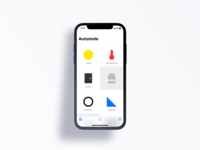 Mobile app concept for home automation