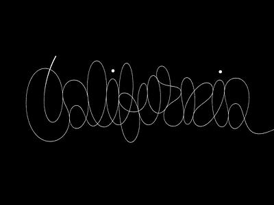 California Monoline monoline calligraphy script sketch custom lettering typography