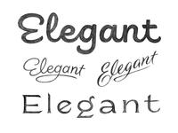 Elegant sketches