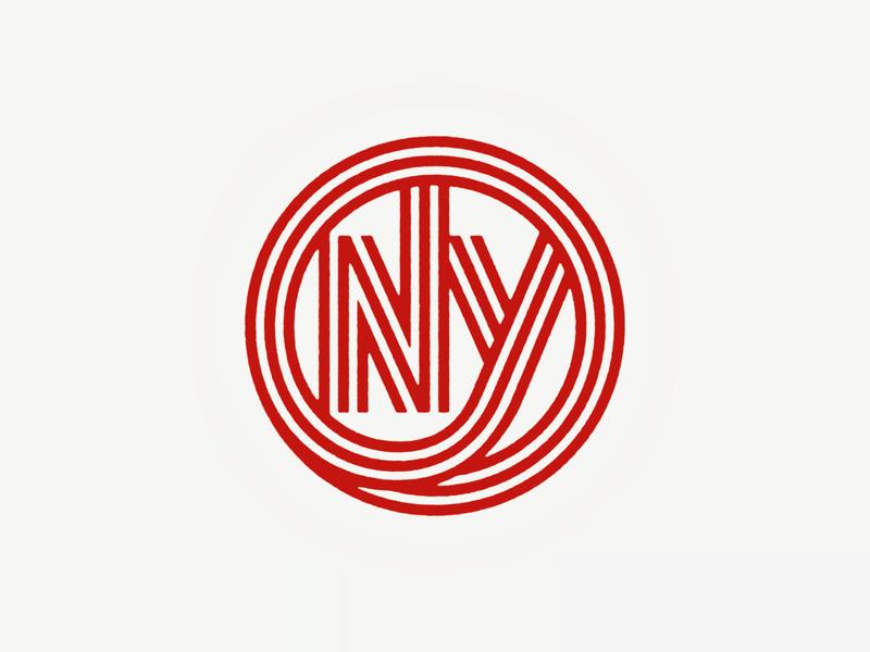 NY, NY. nyc ny monogram logo custom typography