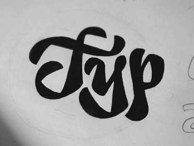 Typ, kinda.. typography modern type cursive black
