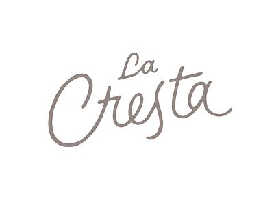 La Cresta sketch scan lettering logotype typography