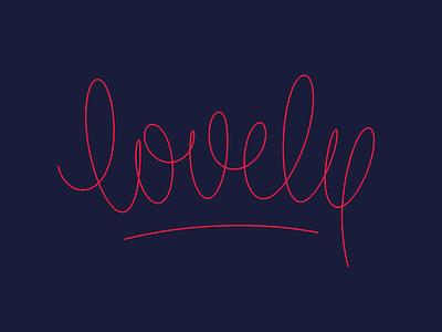 lovely v 1.0 handwriting line monoline curvy typography lettering