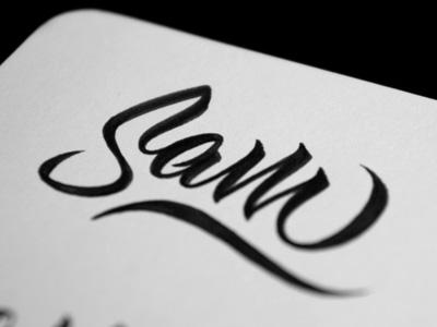 Sam Brush Lettering brush lettering typography type tombow
