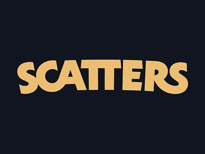 Scatters type logo logotype custom lettering typography