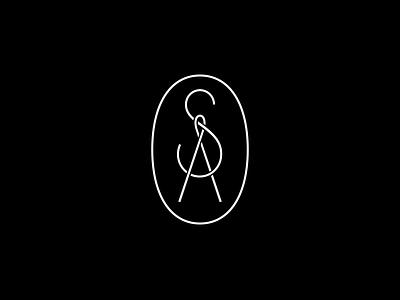 SA — Tailor monogram branding logo logotype needle thread sa monogram