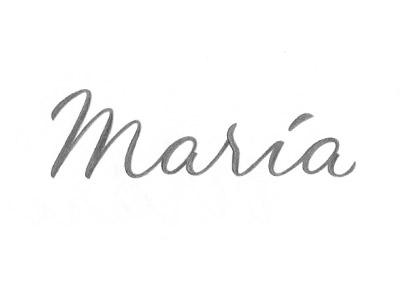 María Sketch 2 sketch lettering type custom typography script bold