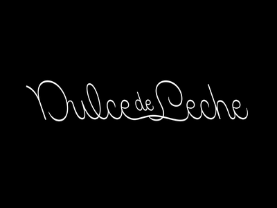 Dulce de Leche spanish cursive calligraphy script logo logotype custom type lettering typography