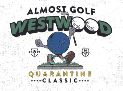 Almost Golf golf design type vector illustration typography