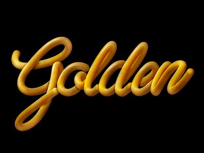 Golden photoshop script golden typography